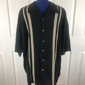 haggar. 1926 washable linen 3X button down shirt